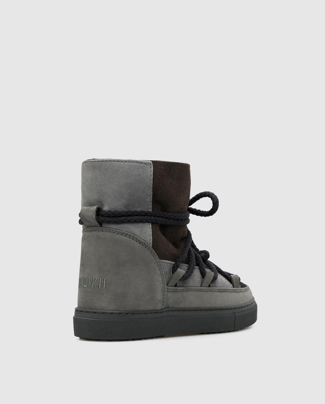 Inuikii Детские темно-серые ботинки на меху изображение 3