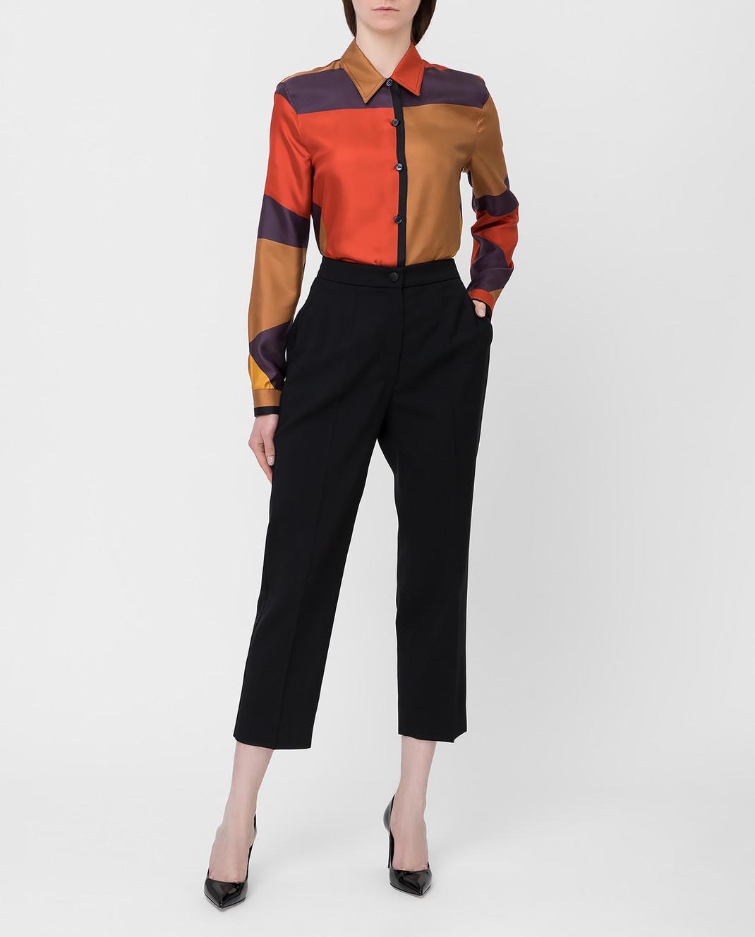 Bottega Veneta Коричневая рубашка из шелка 538599 изображение 2