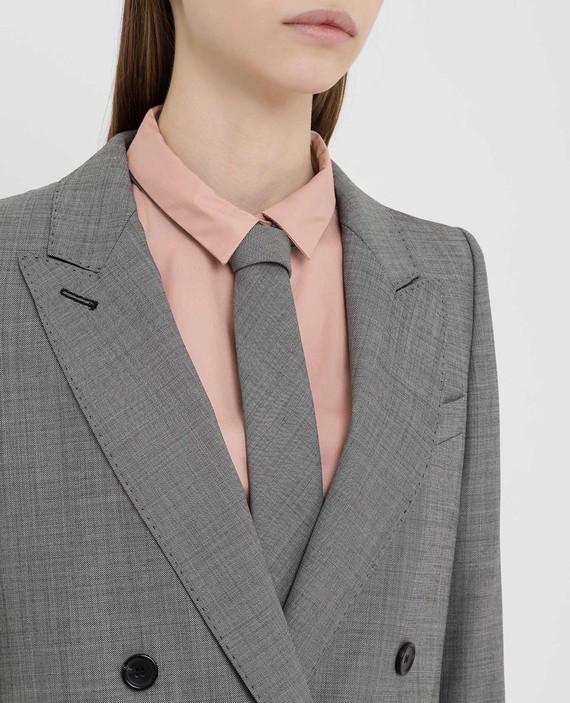 Серый галстук из шерсти hover