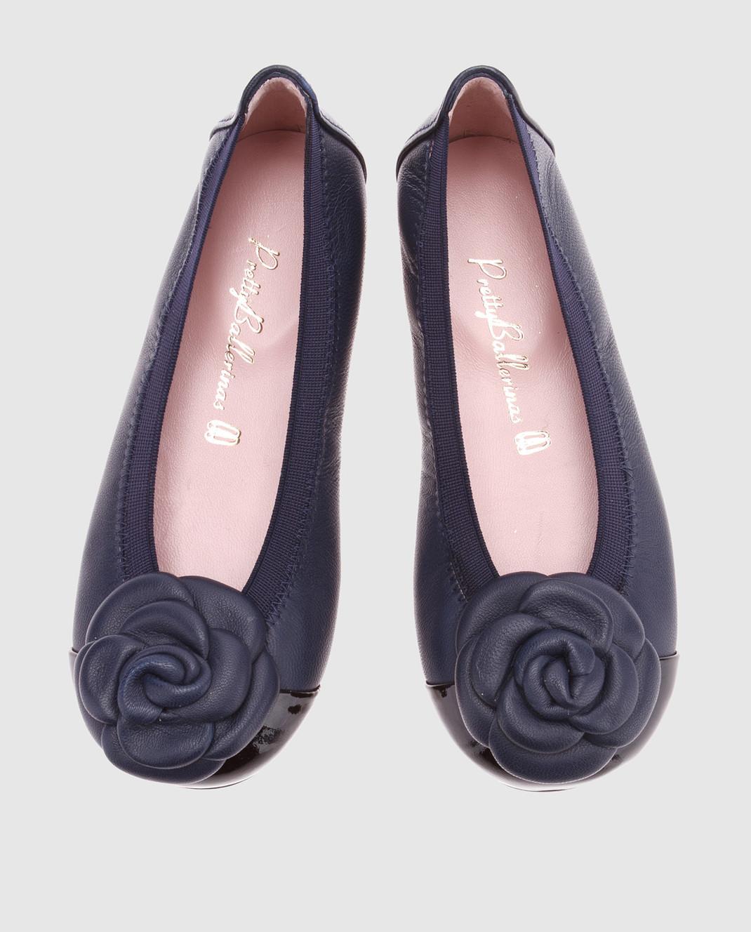 Pretty Ballerinas Детские темно-синие кожаные балетки 46942 изображение 4