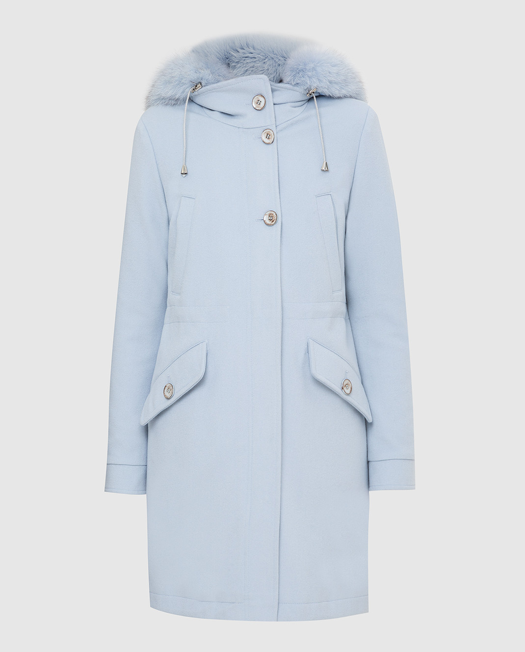 Heresis Голубое пальто из шерсти P1290VO