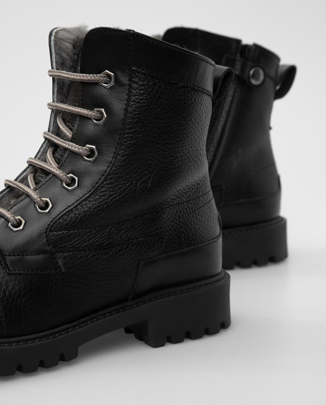 Zecchino D'oro Детские черные ботинки на меху A044123640 изображение 4