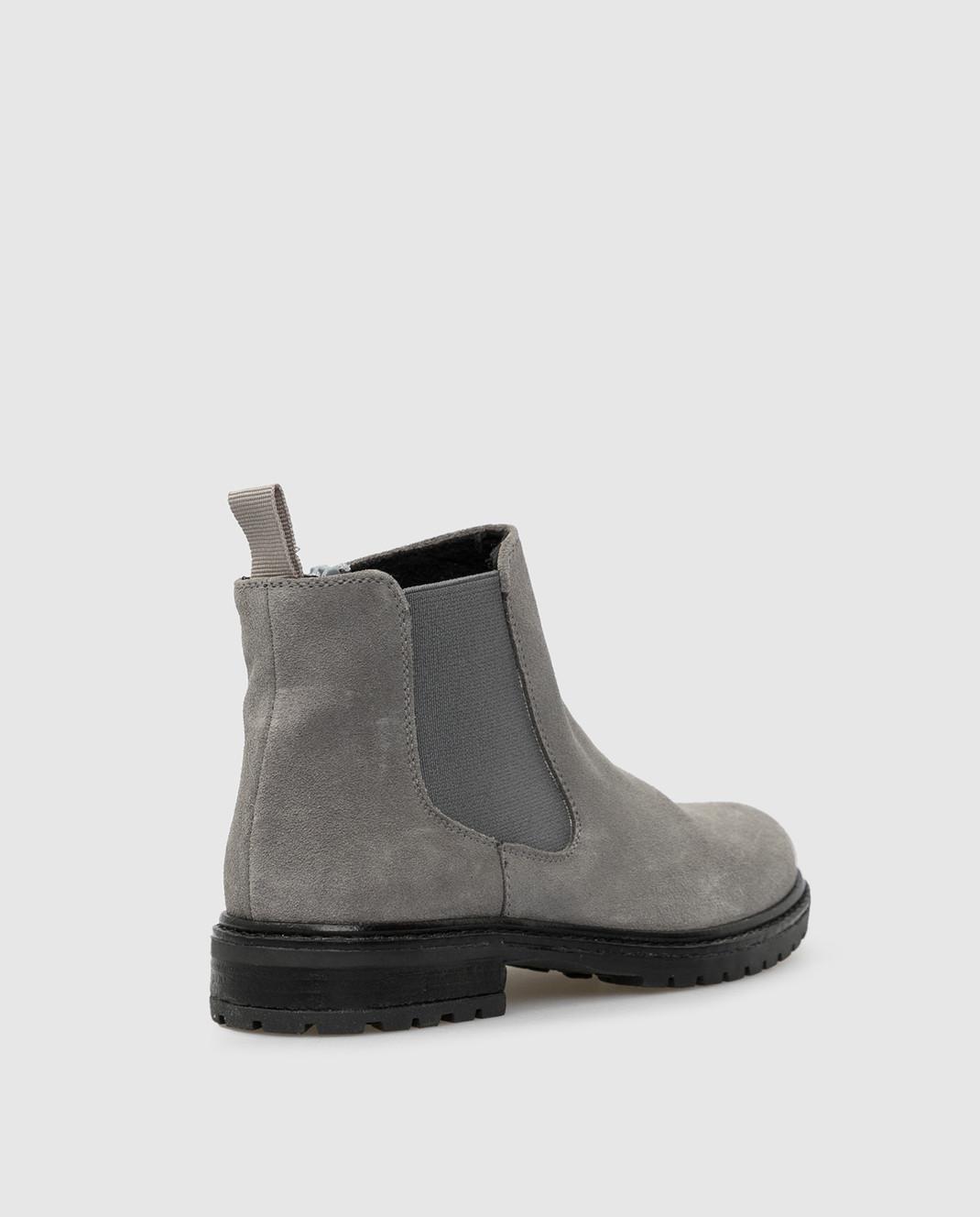 Zecchino D'oro Детские серые замшевые ботинки F0242003032 изображение 3