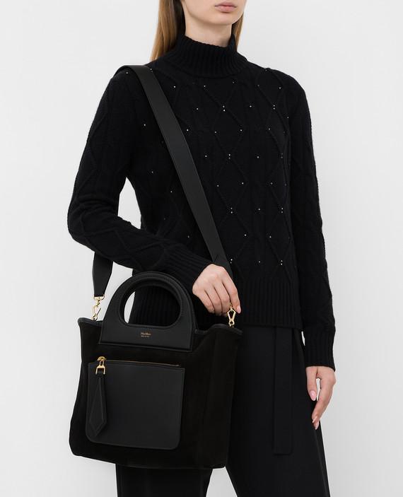 Черная замшевая сумка hover