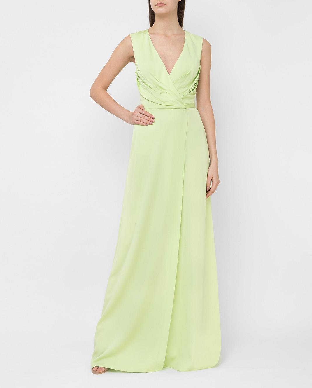Ermanno Scervino Зеленое платье D282Q397DVY изображение 2