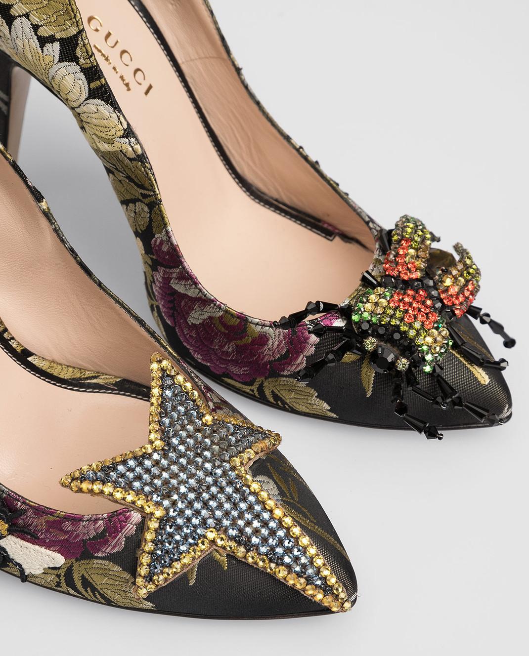 Gucci Черные туфли с кристаллами 434762 изображение 5