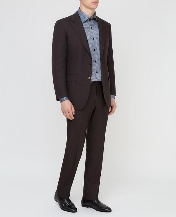 Темно-коричневый костюм из шерсти hover