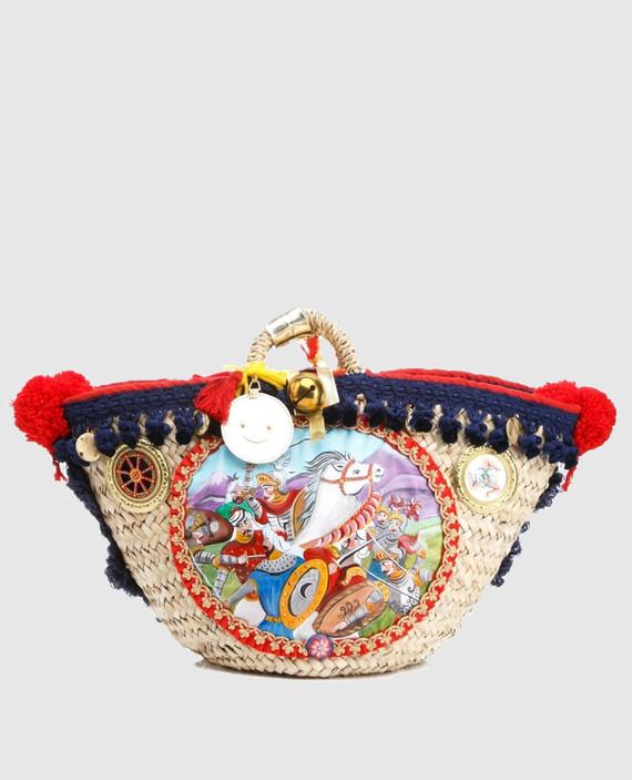 Соломенная сумка ручной работы