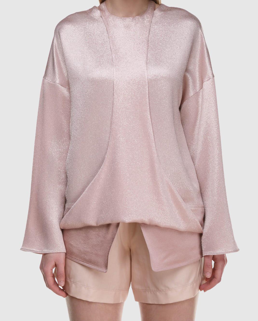 Valentino Розовая блуза PB0AE2R53VF изображение 4