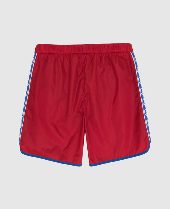 Детские красные плавательные шорты hover