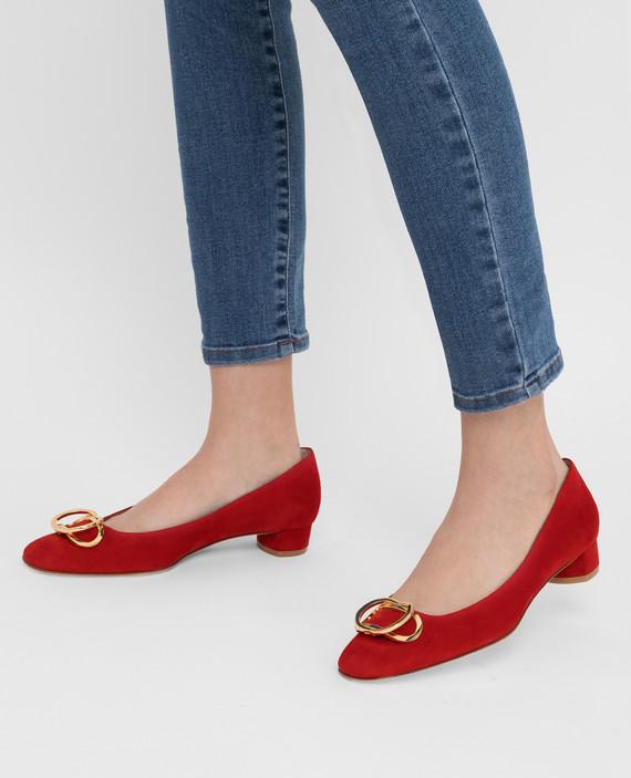 Красные замшевые туфли hover