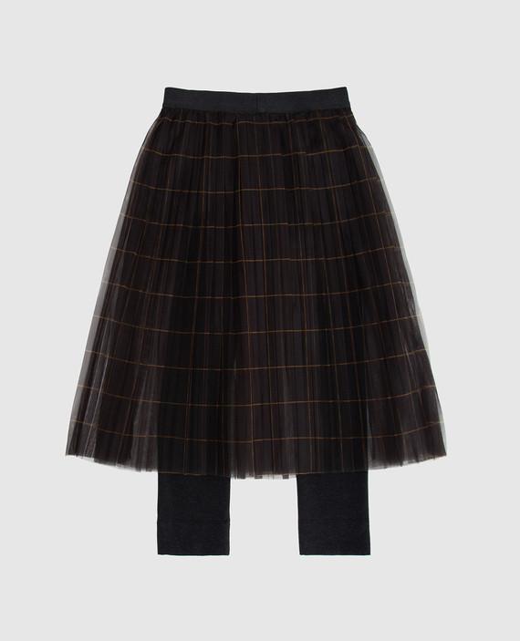 Детская темно-серая юбка hover