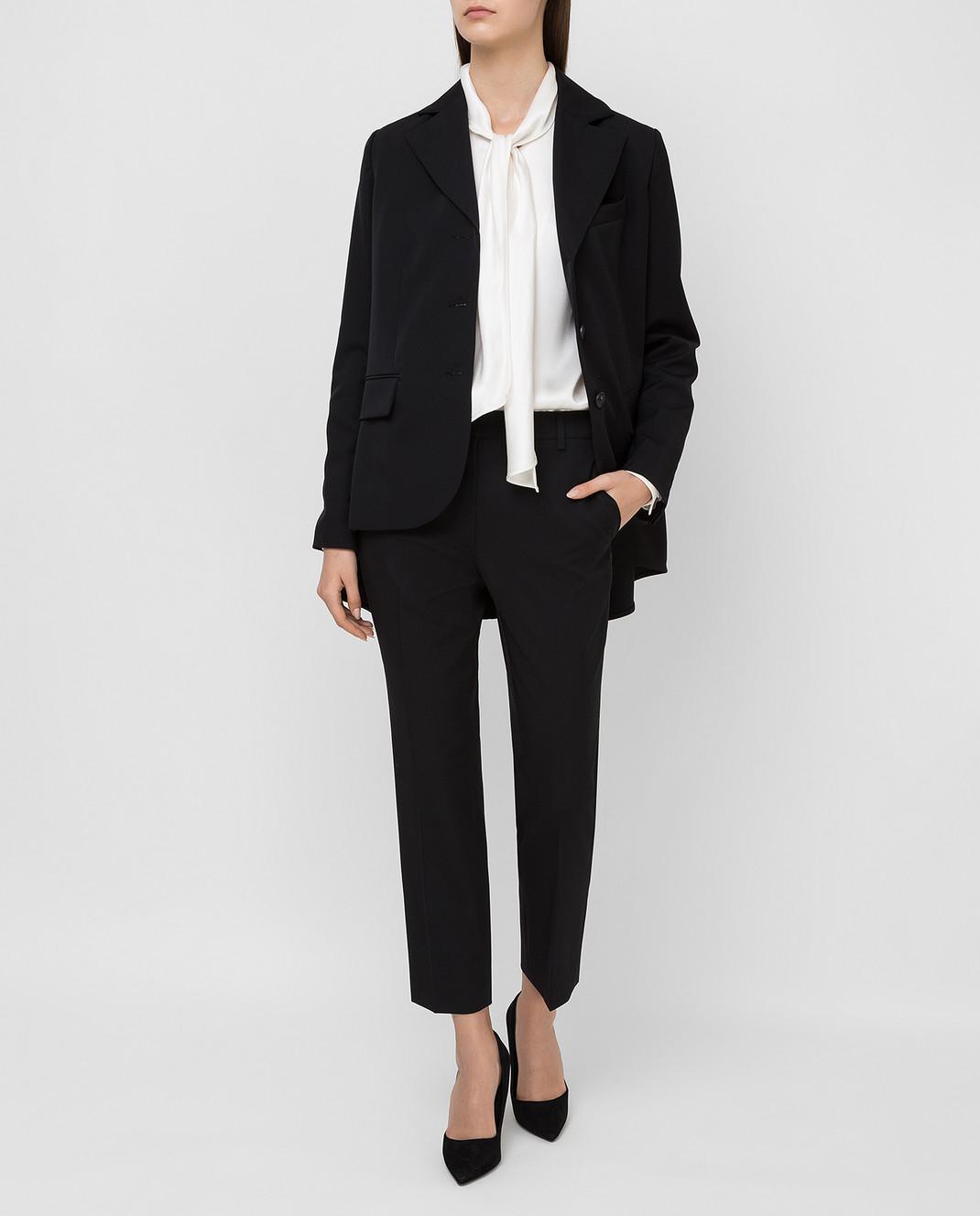Lanvin Черные брюки из шерсти изображение 2
