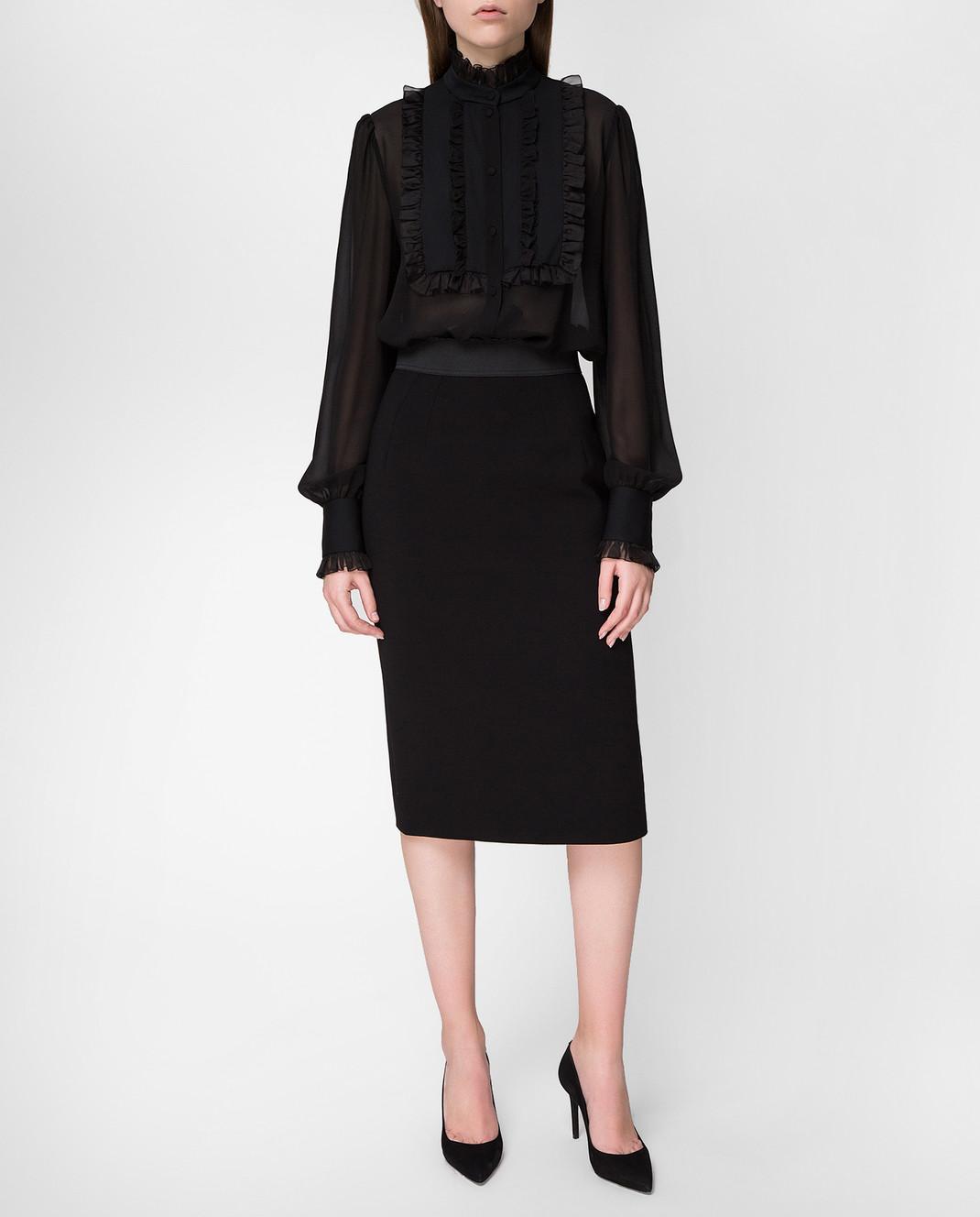 Dolce&Gabbana Черная блуза F5K14TFU1AR изображение 2