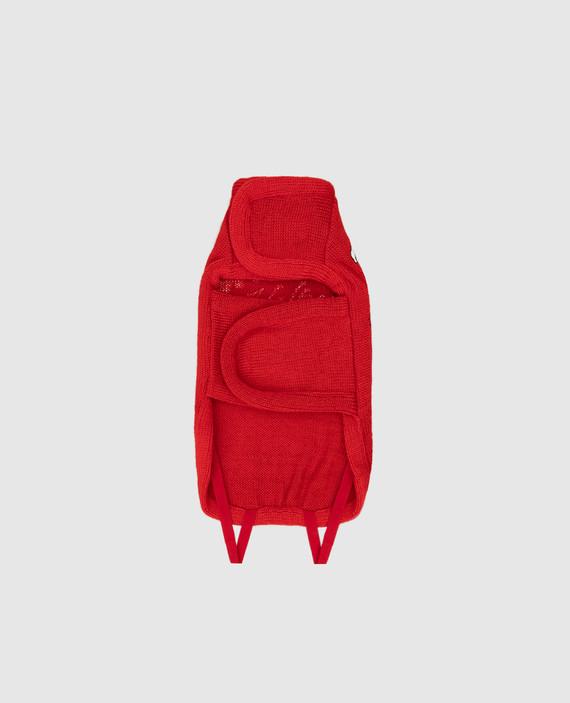 Красный костюм из шерсти для собак hover