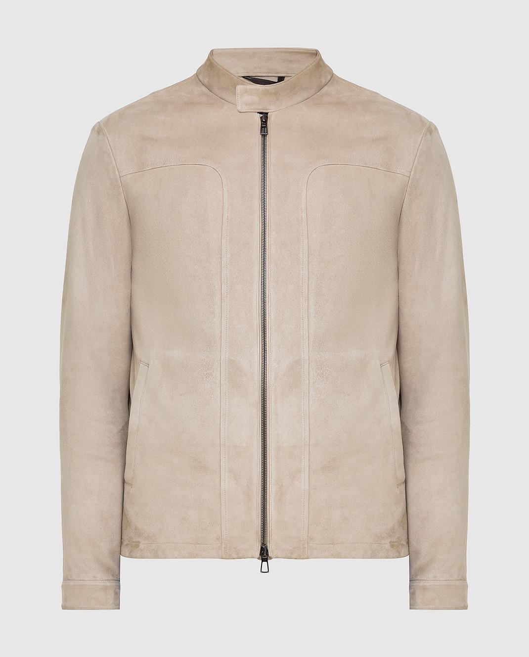 Loro Piana Светло-бежевая замшевая куртка F1FAG1790
