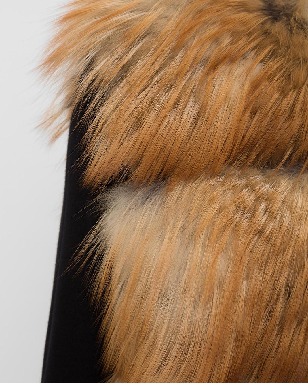 Florence Mode Оранжевый жилет из меха лисы L1577BISVROSSA изображение 5