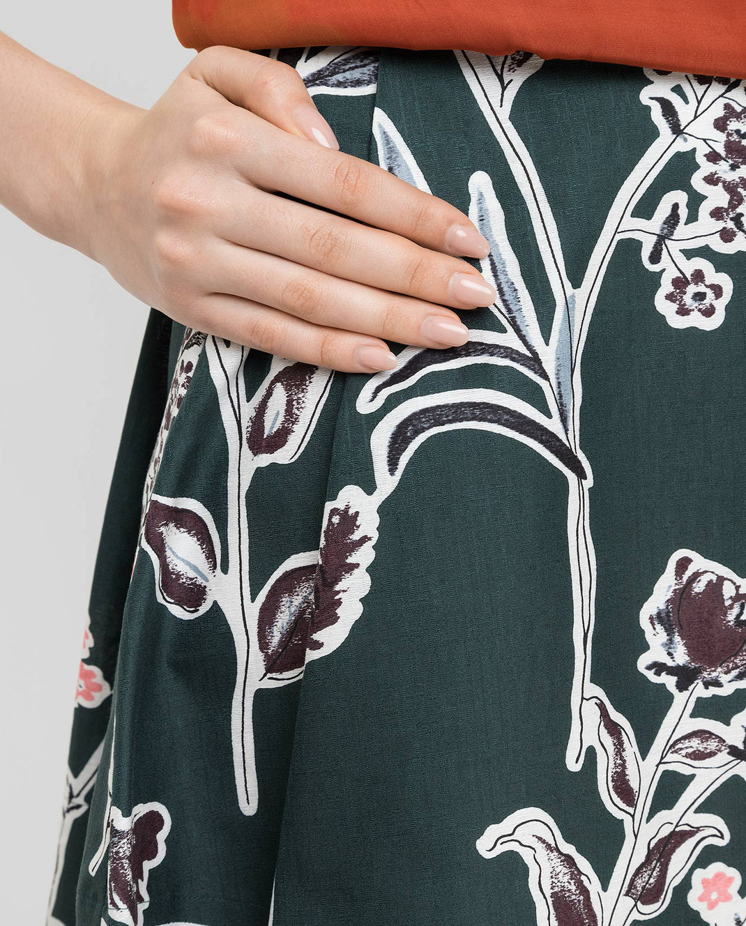 Marni Зеленая юбка изображение 5