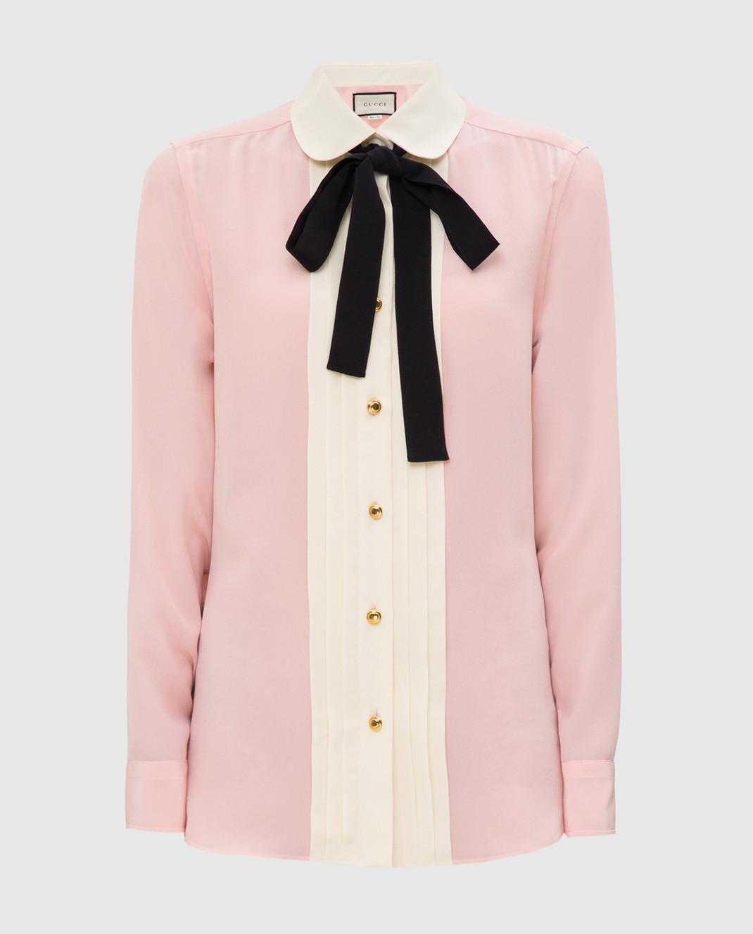 Gucci Розовая рубашка из шелка 544892