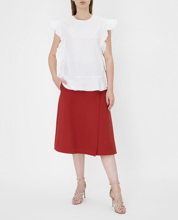 Терракотовая юбка из шерсти hover