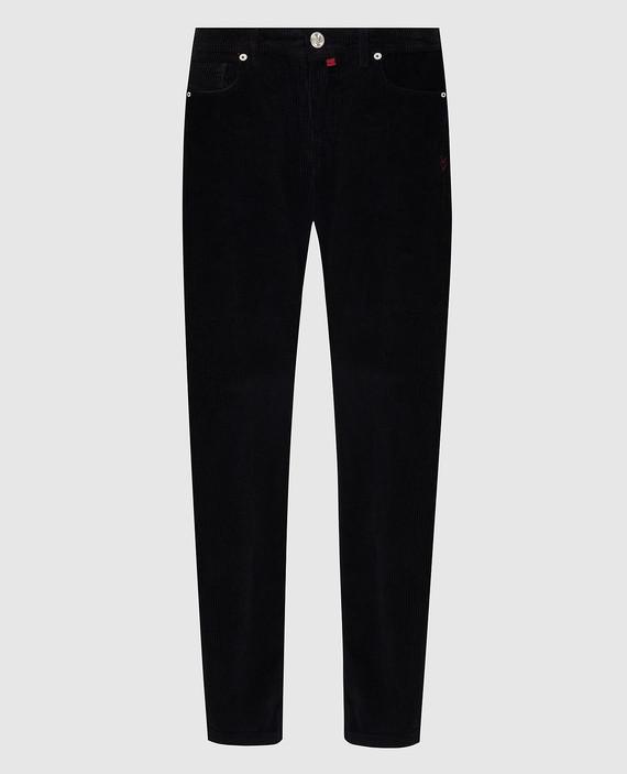 Черные вельветовые джинсы