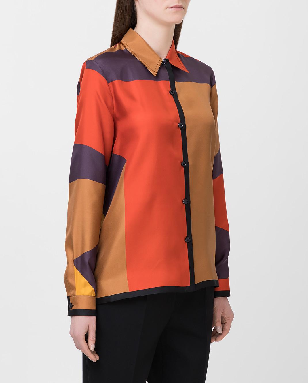 Bottega Veneta Коричневая рубашка из шелка 538599 изображение 3