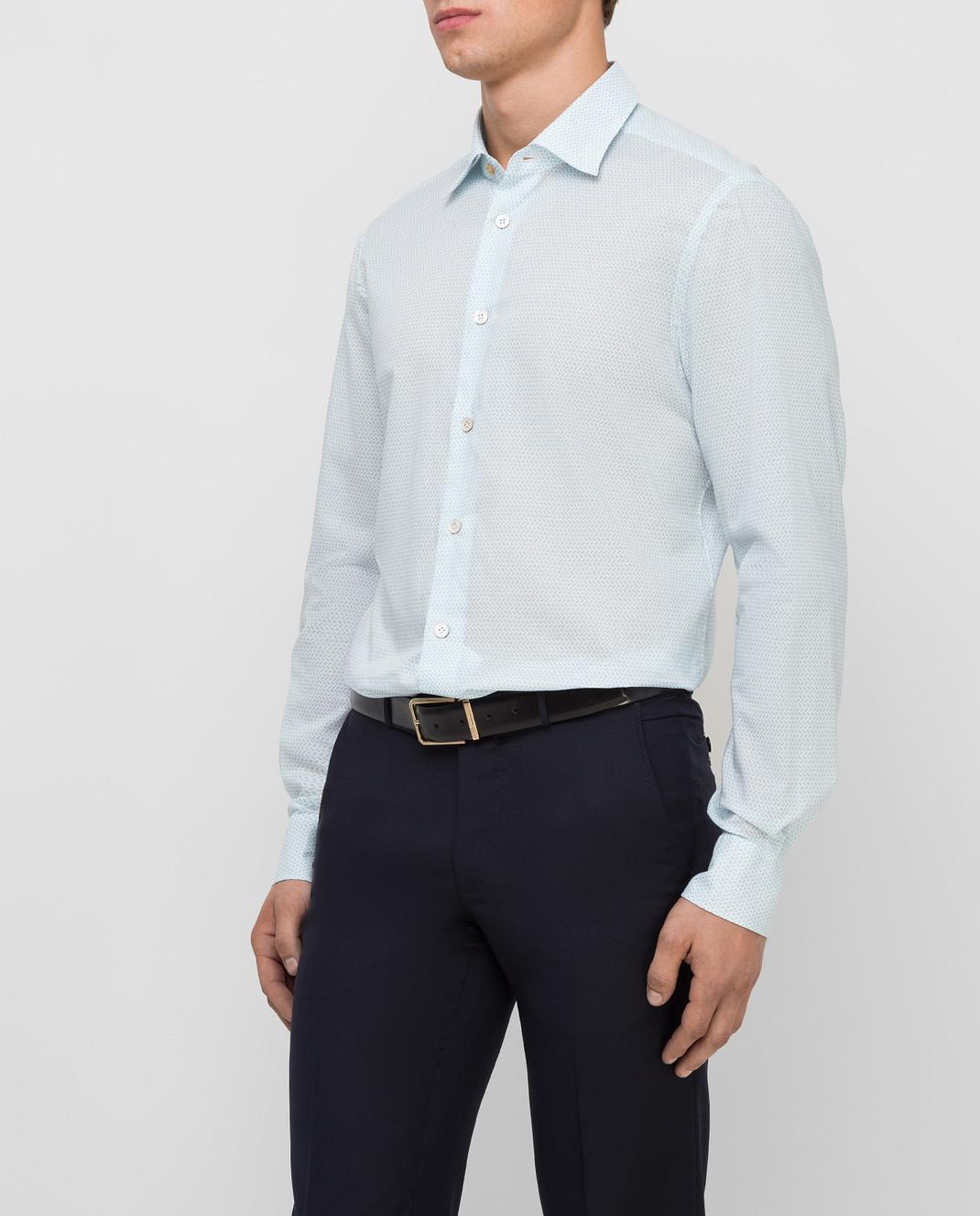 Kiton Белая рубашка изображение 3
