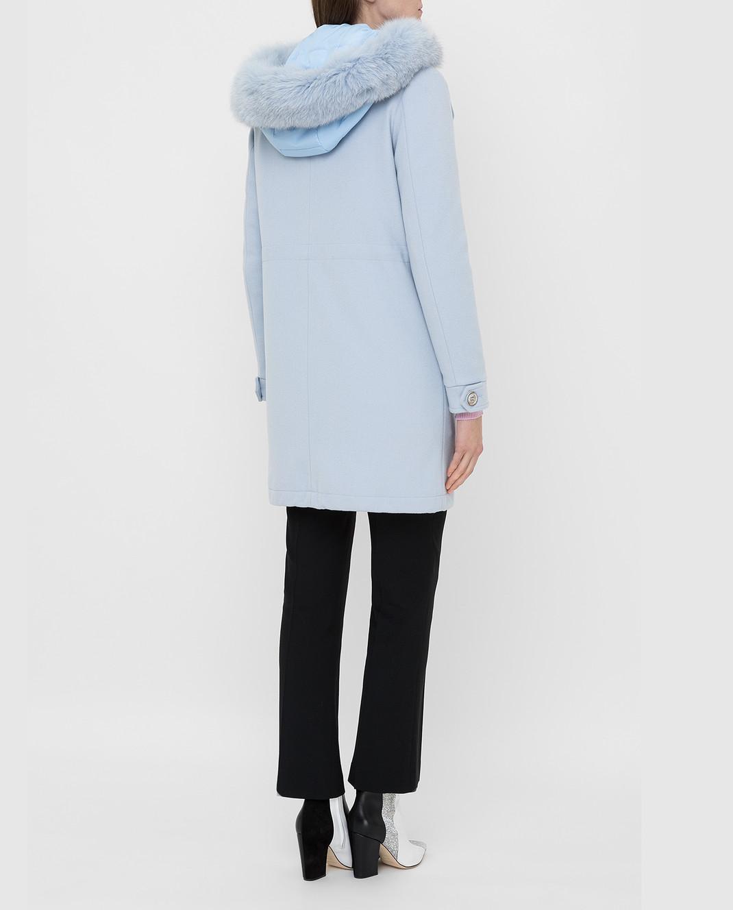 Heresis Голубое пальто из шерсти P1290VO изображение 4
