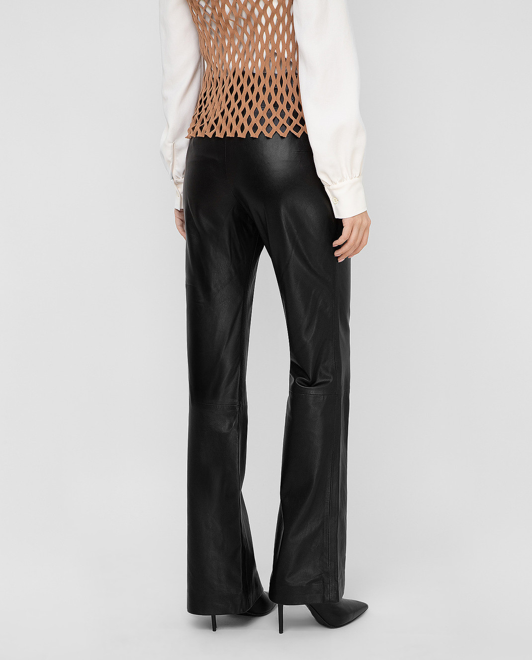 Altuzarra Черные кожаные брюки 318612796 изображение 4