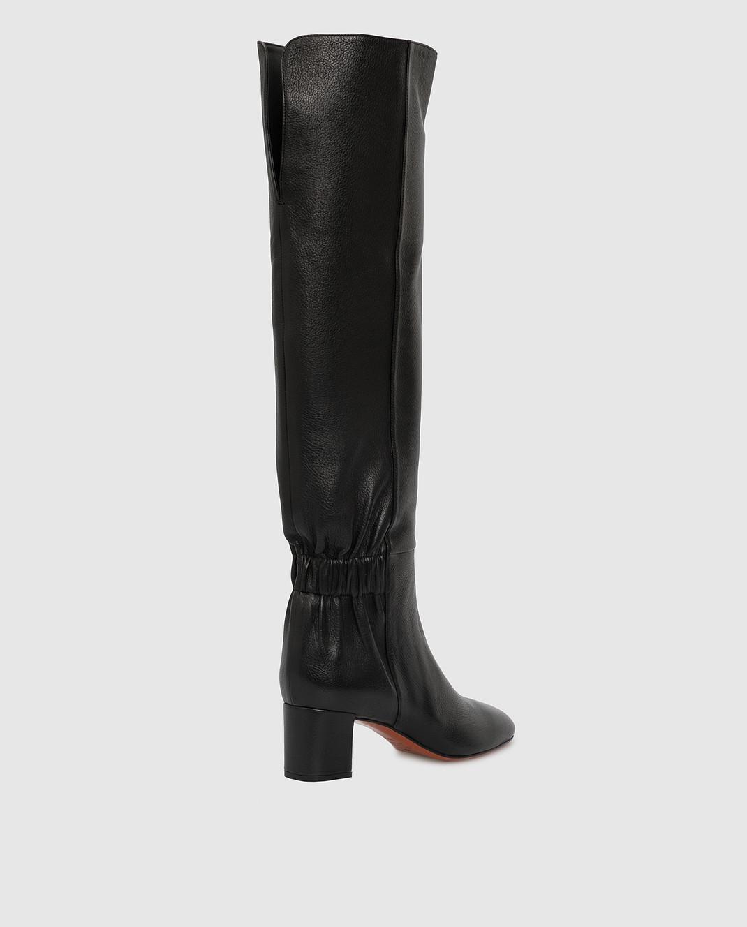 Santoni Черные кожаные сапоги изображение 4