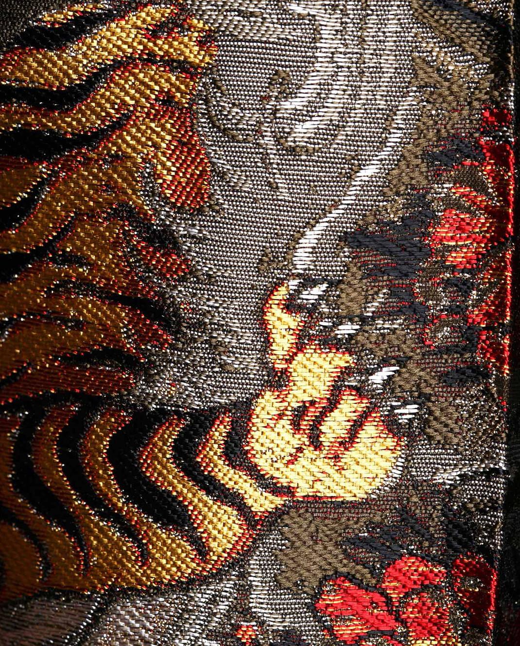 PAROSH Оливковые жаккардовые брюки D230049 изображение 5