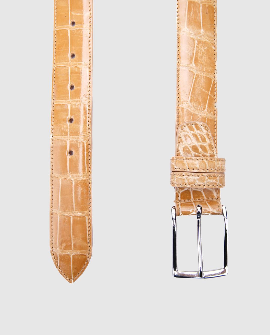 Bochicchio Песочный кожаный ремень ALLIGATBELTS изображение 2