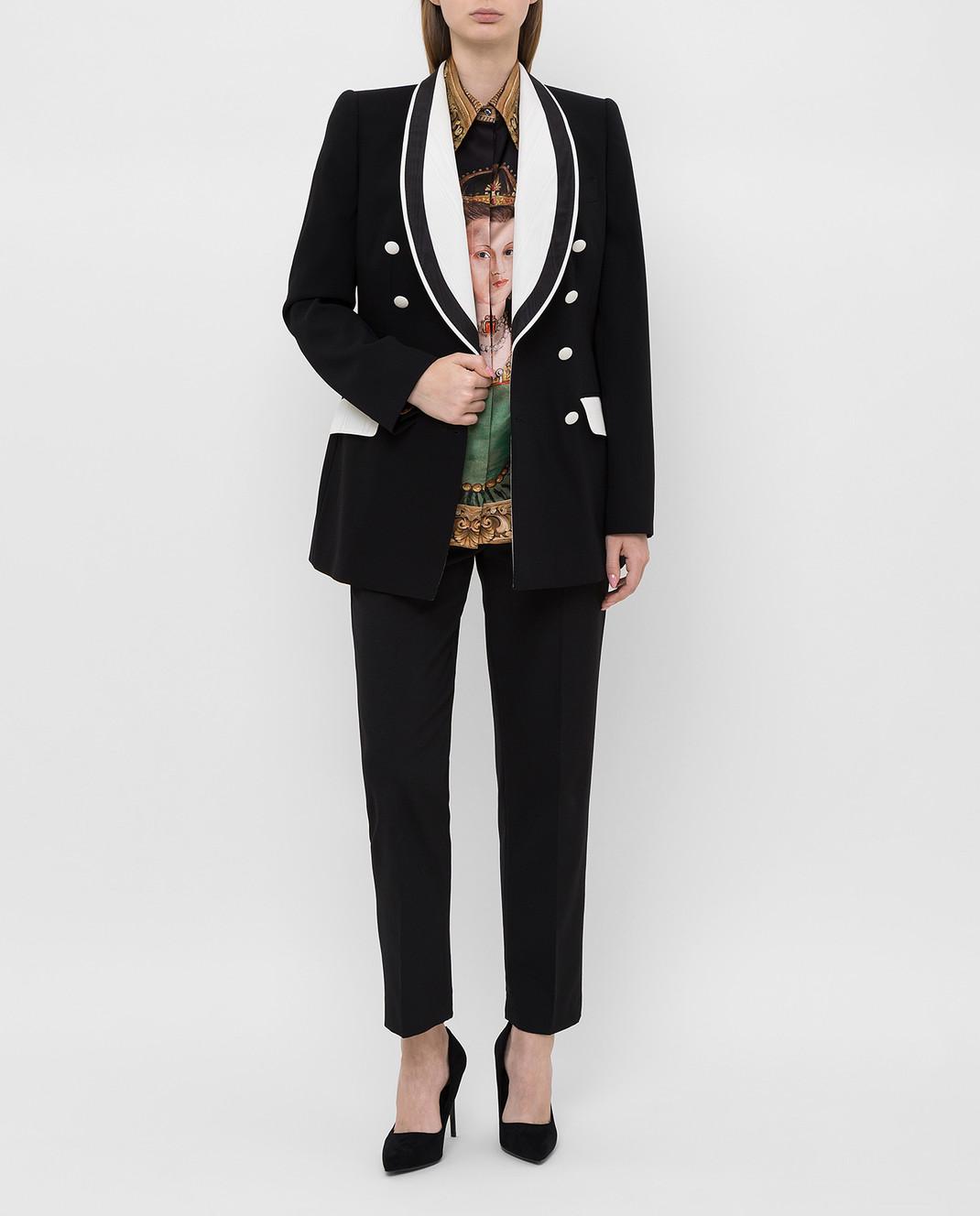 Dolce&Gabbana Черный жакет из шерсти изображение 2