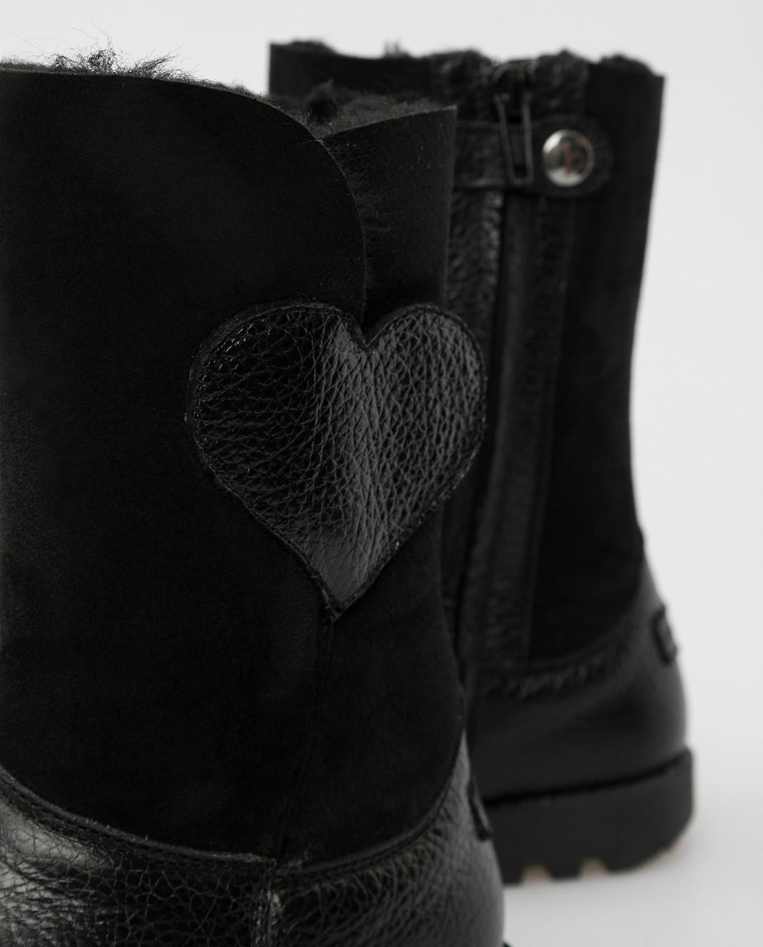 Zecchino D'oro Детские черный сапоги на меху A2929342729 изображение 4
