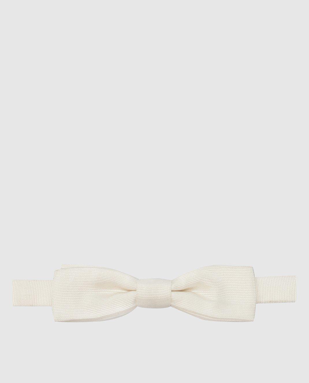 Dolce&Gabbana Светло-бежевая бабочка из шелка изображение 1