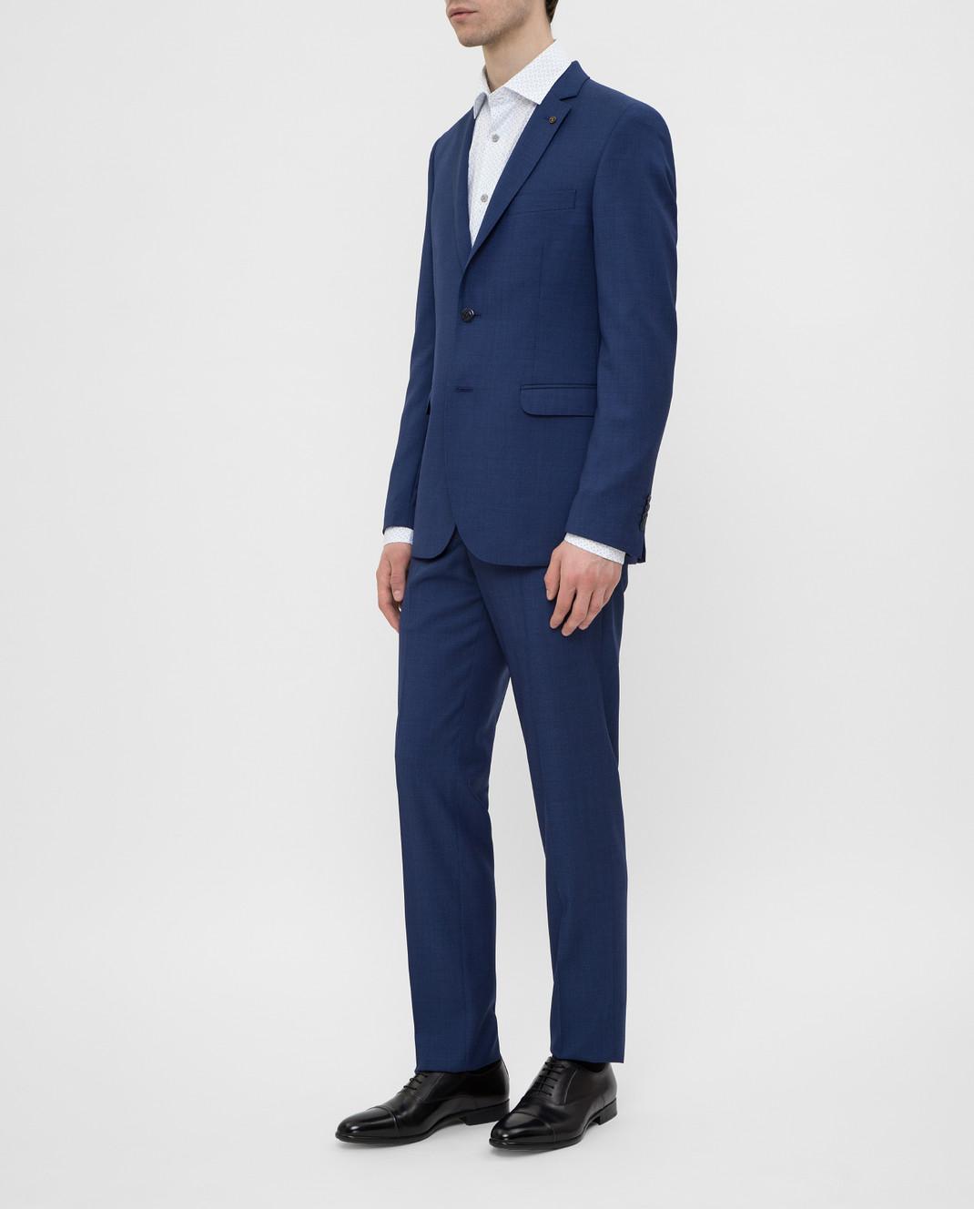 Florentino Синий костюм из шерсти изображение 3