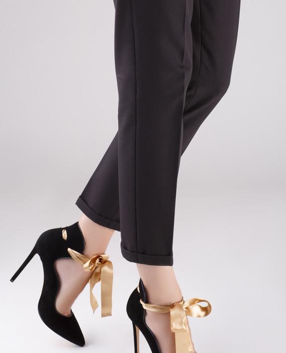 Черные замшевые туфли MELISSA hover