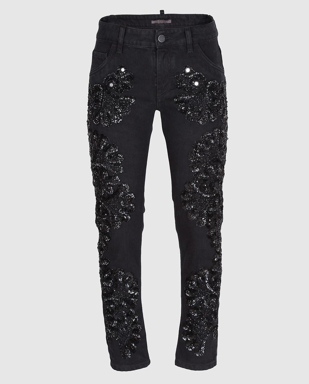 Amen Черные джинсы с пайетками ACS17607