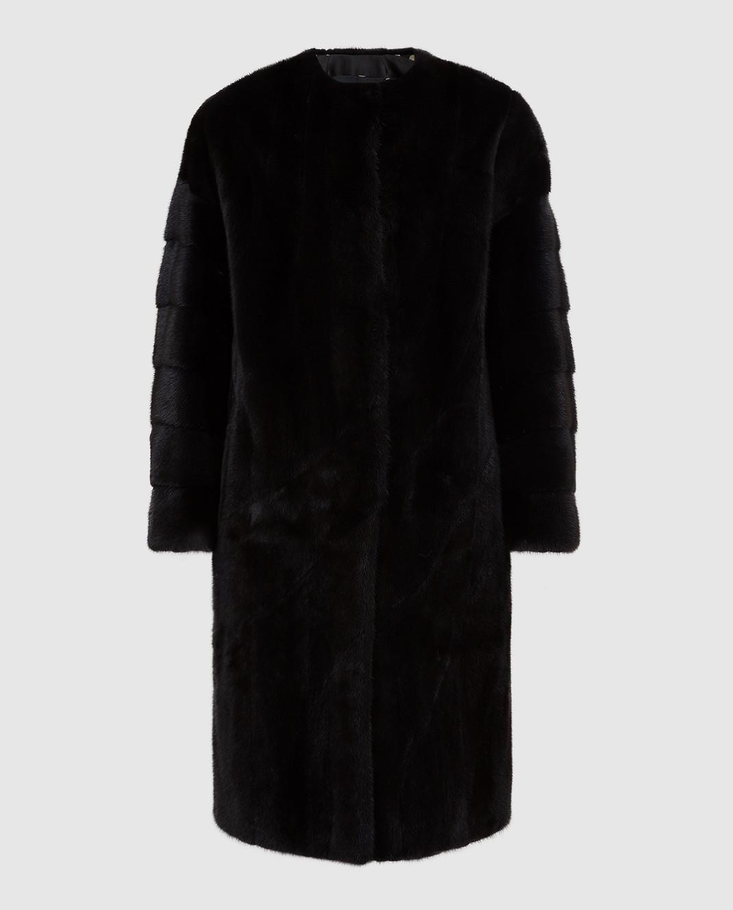 Rindi Черная шуба из меха норки изображение 1
