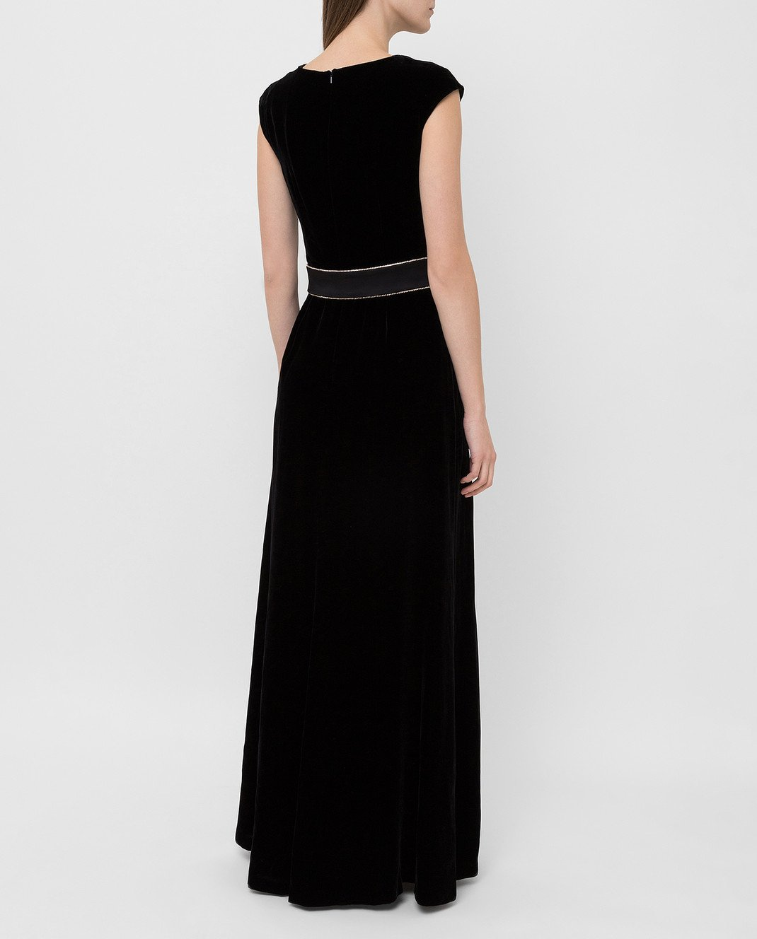 Max Mara Черное бархатное платье ASTRALE изображение 4