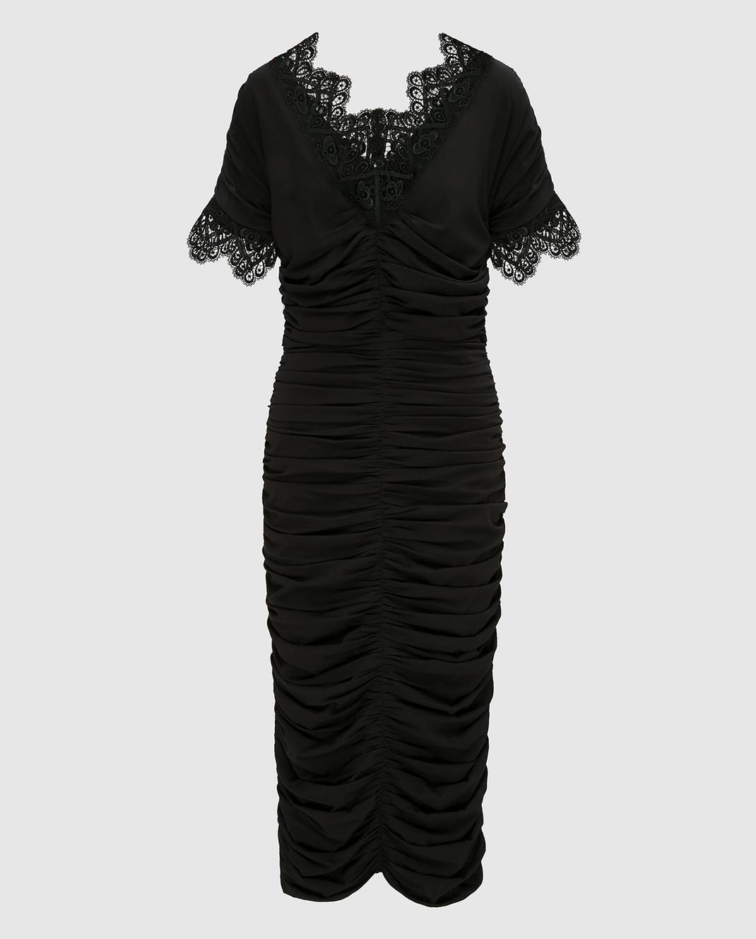 Dolce&Gabbana Черное платье F6A4QTFUABH