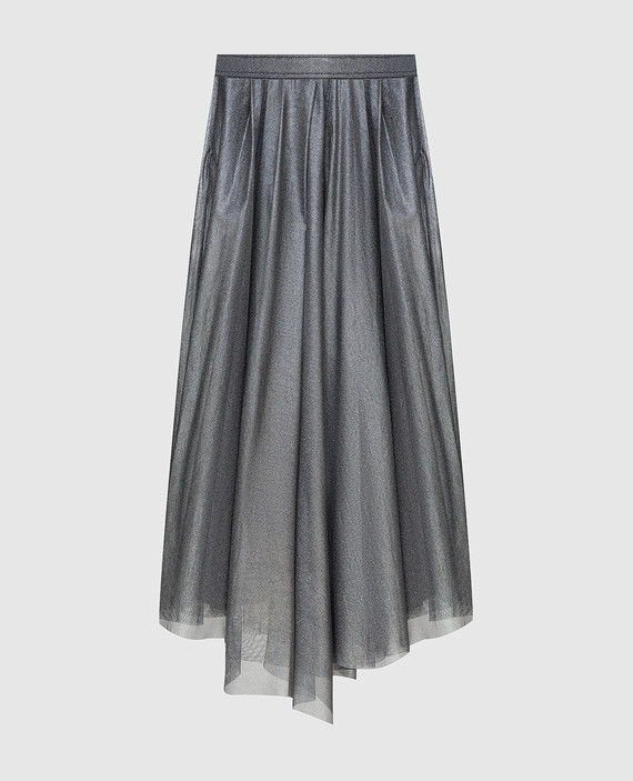 Серебристая юбка