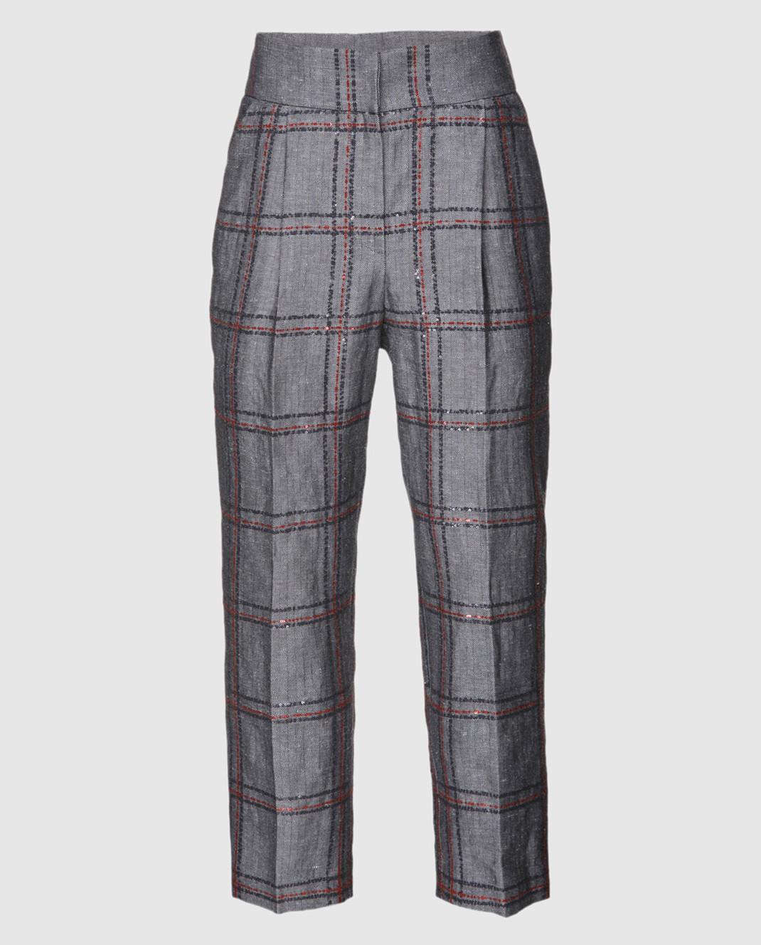 Brunello Cucinelli Серые брюки M0H49P6569