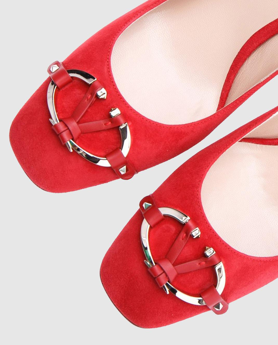 Valentino Красные туфли из замши изображение 4