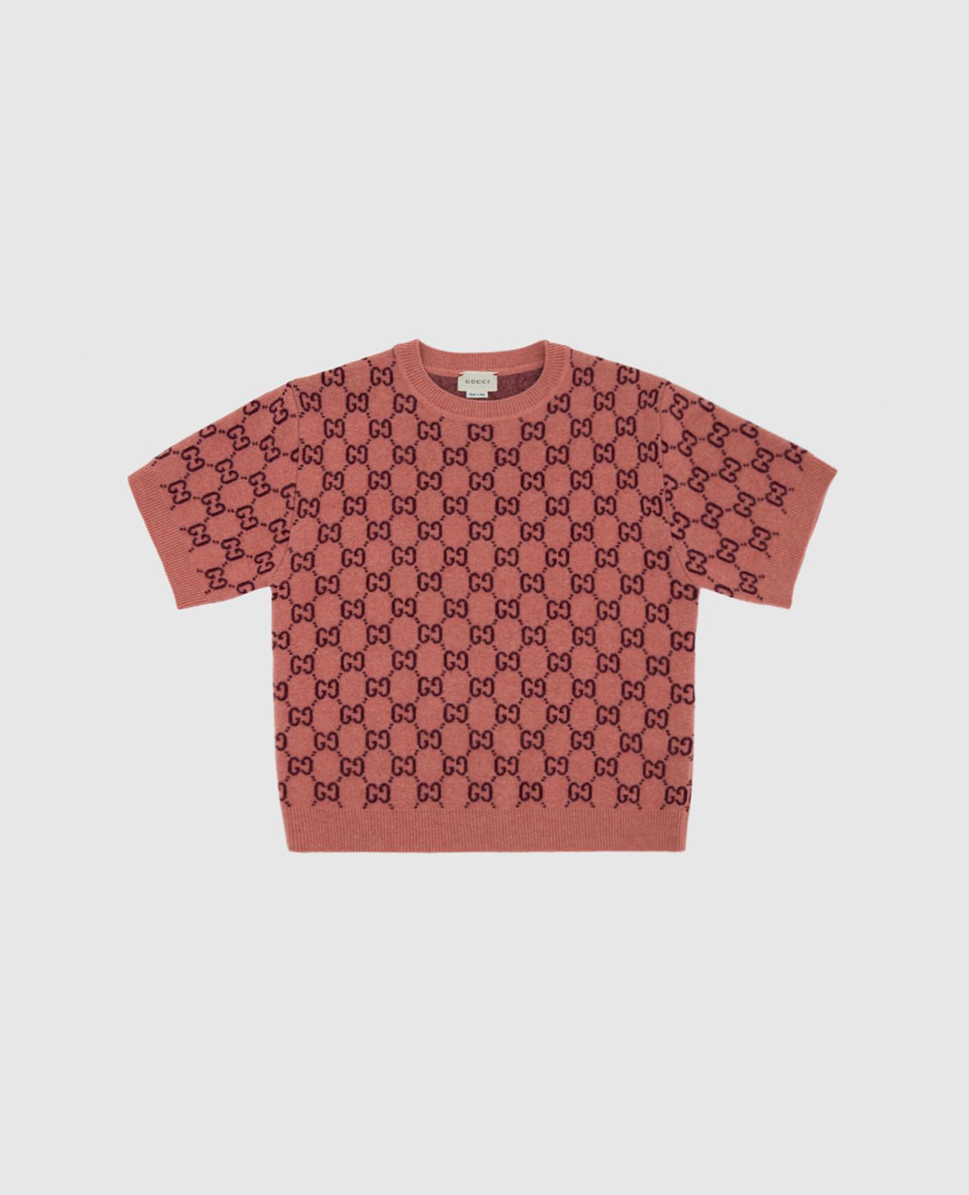 Детский розовый свитер из шерсти