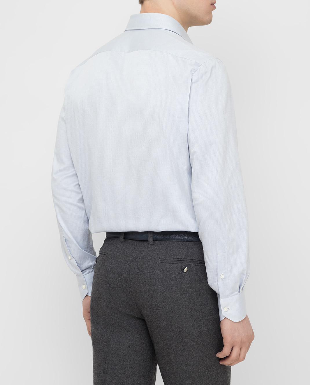 Luciano Lombardi Голубая рубашка 66216210 изображение 4