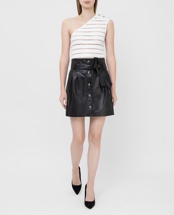 Черная кожаная юбка hover
