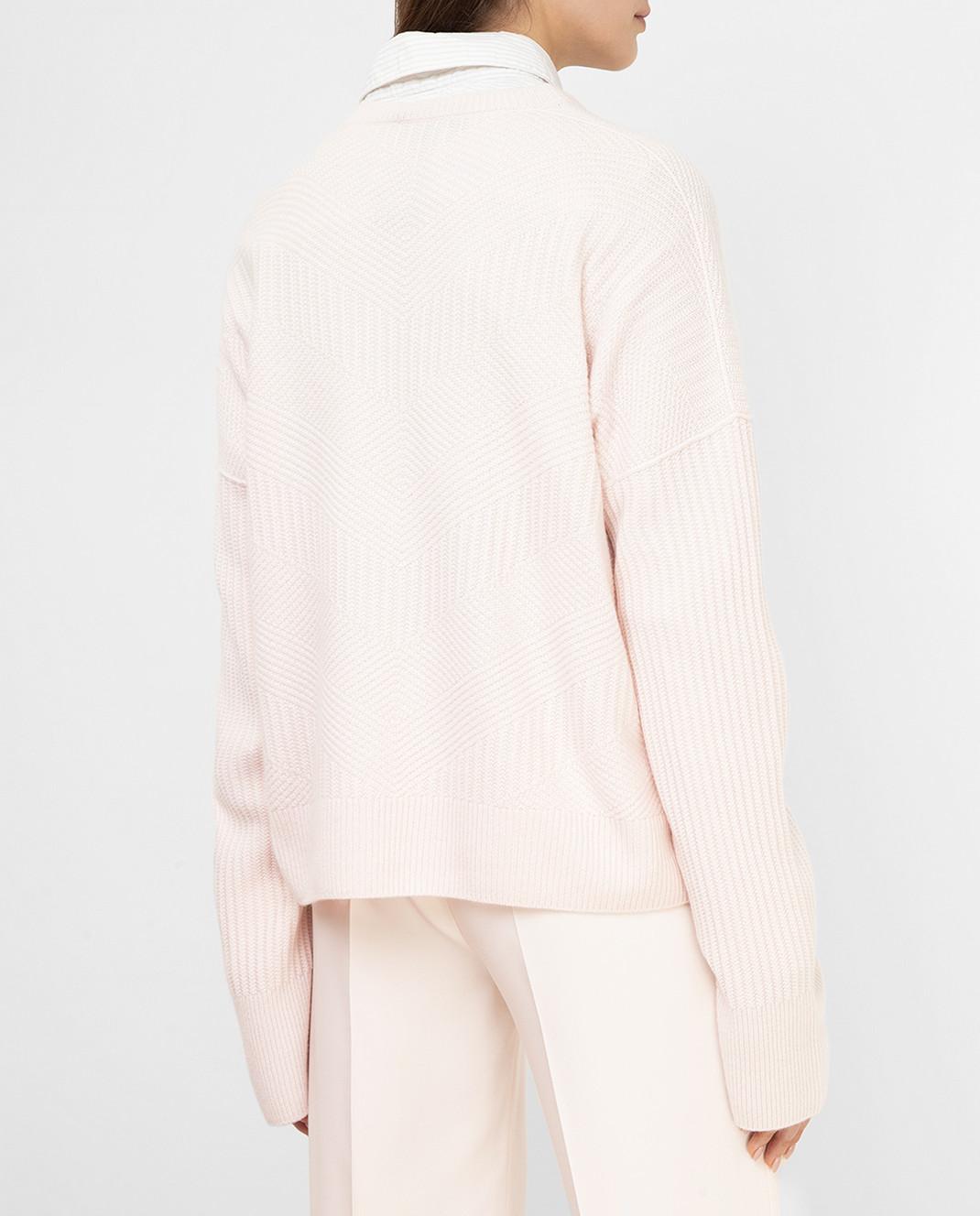Loro Piana Розовый пуловер из кашемира F2FAI6038 изображение 4