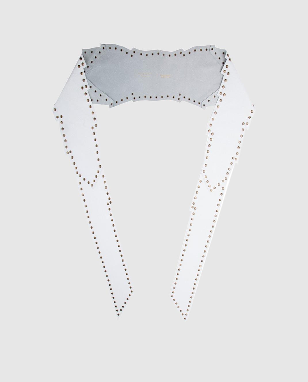 Philosophy di Lorenzo Serafini Белый кожаный пояс A30052171 изображение 2