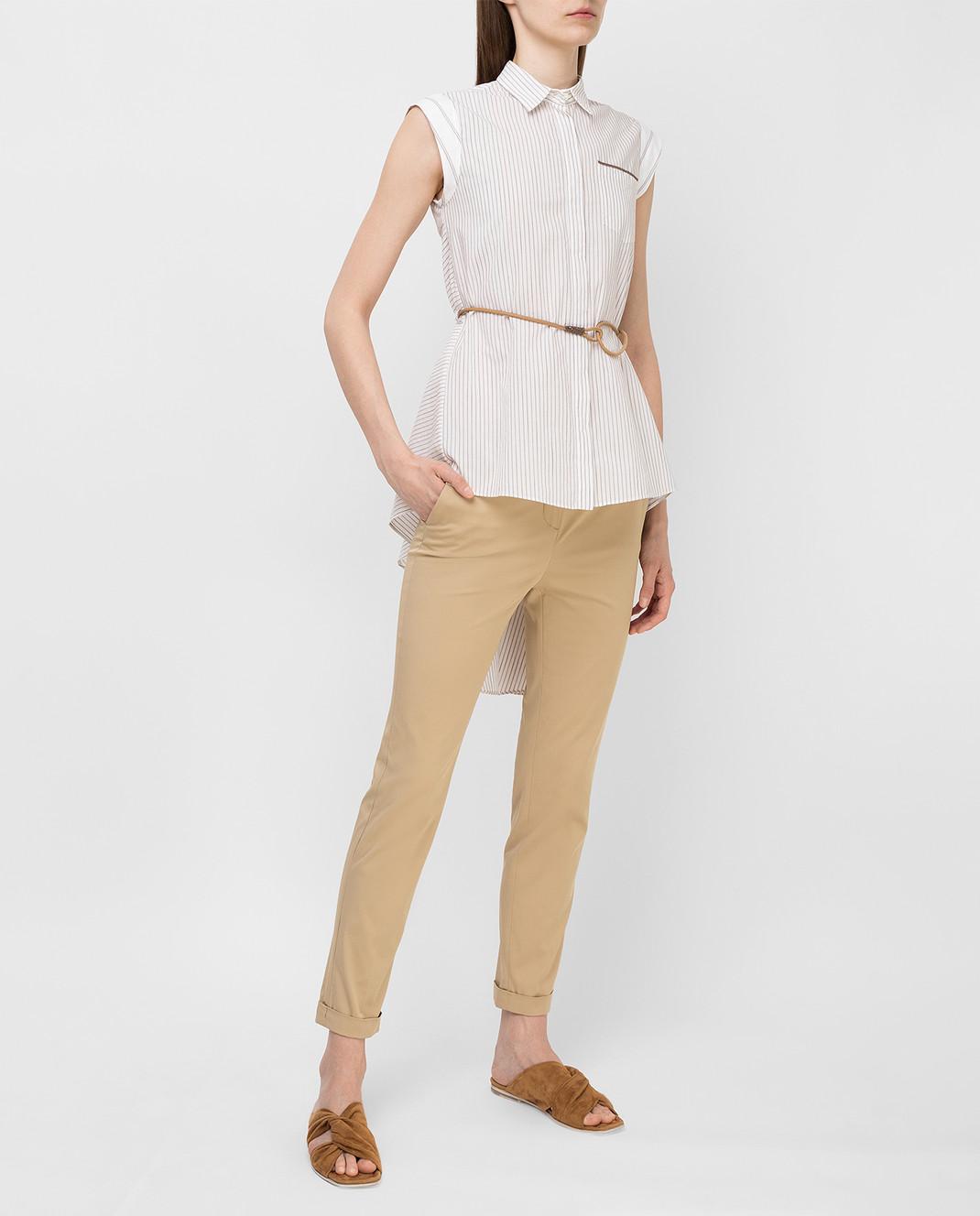Loro Piana Бежевые брюки F1FAI1447 изображение 2